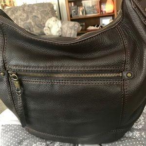 The Sak Dark Brown Leather Hobo NWT
